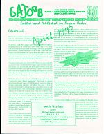 A 1992 issue of Gajoob above with the front cover designed with text instead of a picture.