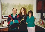 Stephen Parsons and parents at their home in Swindon. UK. 1991.