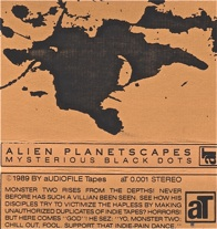 Alien Planetscapes  Mysterious Black Dots  1989