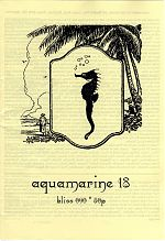 Aquamarine #18, a zine published by Kim Harten.