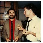 C.W. Vtracek and Nick Didkovsky at wedding of drummer John Roulat, 1984.