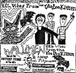 "Wallmen, ""Eel Vibes From The Voodoo Kitten"" cassette cover."