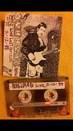 "Wallmen, ""Live"" cassette cover 1988"