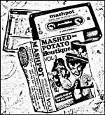 "Mashpot did some crazy home taping garage rock with scum and lo fi attitude. Very refreshing and with a true go-for-broke, garagey home taping feeling. Above, a cover for their cassette release ""Songs That Bit The Big One""."