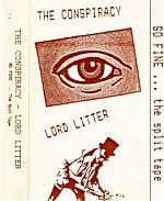 Above, their split tape with German musician Lord Litter on whose label , Out Of The Blue, this was released in 1993.