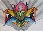 "Above, art work by Michael J. Bowman aka Velveeta Heartbreak, ""Super Onion Surprise"".  Below, ""Spirit Surge""  Artwork available for sale ""here"":http://www.etsy.com/shop/velveeta."