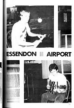 From 1978 , a picture of David Chesworth and Robert Goodge, two early players on the Australian underground scene with their group, Essendon Airport.
