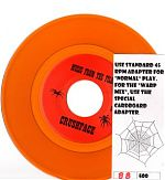 Below, the 2009, 7&quot; record by Music From The Film, &quot;Crushface&quot; b/w &quot;Bit&quot;. It came with a special cardboard device for playing the record in a &quot;warped&quot; way and also a paper insert with a map, credits, a radio station schedule and a playing card of Lt. Gen. Kelly from the Desert Storm series.