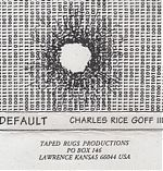 "1998 brought the tape ""Default"" a computerized keyboard romp that is part Residents, part Mission Of Burma and all Goff."