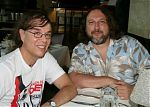 Home recording pals, Dan Susnara and Dino DiMuro out to dinner in Los Angeles, 2009.