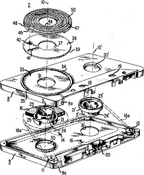 cassette tape, exploded diagram