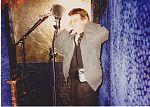 Don Campau inside the isolation booth of Birgit Gasser and Detlef Funder, 1991.