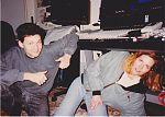 Detlef Funder and Birgit Gasser in their Dusseldorf studio in 1991.