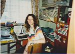 Stephen Parsons at his bedroom desk in 1991.