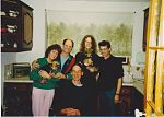 Stephen Parsons and family with Kevyn Dymond and Don Campau, 1991.