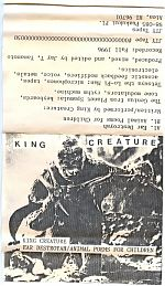 Tape cover for King Creature release.