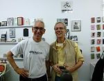 Gen Ken Montgomery and Dave Prescott at the re-opening of Generator, August 2013.