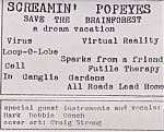 """Inside cover of """"Save The Brainforest"""" by The Screamin' Popeyes."""