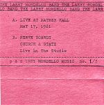 Inner cover sleeve of Live At Mather Hall