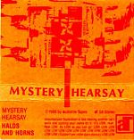 """His Mystery Hearsay, """"Halos And Horns"""" release for the audiofile label in 1988. Mike continues to be very active in the electronic music field and is also (with Kevin Thorne) the co-founder of the Cassette Culture.net web site."""