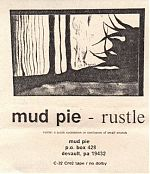 """Above, the cover to their 1990 tape, """"Rustle"""" and below the inner sleeve."""