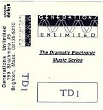 Above, a tape released on the Generations Unlimited cassette label.   Below,  CD and tape covers from various releases.