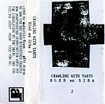 """One of my favorite Crawling With Tarts tapes is """"Bled es Siba"""" released in 1988 on audiofile tapes. This two cassette, improv classic is a three way collab with Mic, Suzanne and Cliff Neighbors from Big City Orchestra. The atmosphere is Xenakis-like with its metallic mysteries, spooky vocal tones and dark resonances."""