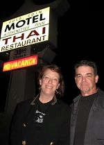 Amy and me during her Monsters Of Accordion tour, 2008.
