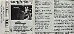 The Peace And Freedom Band was the British project of writer, poet and publisher Paul Rance. This musical project also included Andy Bruce, Andy Savage and Andy Xport. The tapes above and below were from 1988. More lo fi and frenetic that Xport's solo tapes, they had a special charm and flavor of their own.
