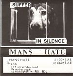 """Above, one of his first tapes, """"Suffer In Silence""""."""
