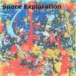"""Hal also has a fine eye for visual design and expression as well. His colorful CD covers explode with life. Above, his compilation """"Space Exploration"""""""