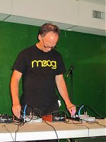 Hal McGee appears live at a recent Gainesville noise event.