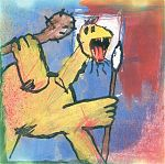 """Hal's solo music has often been a push-pull, diametric of modern versus primitive. On some CDs below you will see the artistic influence perhaps of such artists as Jean DuBuffet, Willem DeKooning, Kurt Schwitters and others. Art work on this release by Marcel Herms. """"Orion The Hunter"""" from 2005."""